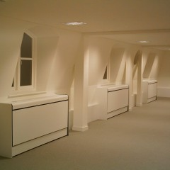 Bespoke laminated ventilated radiator covers