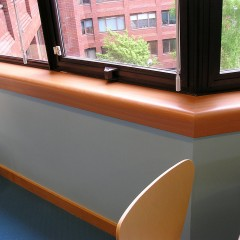 Laminated window sill structures