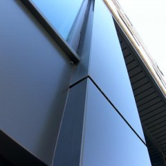 Specially manufactured metal boxing for external cladding